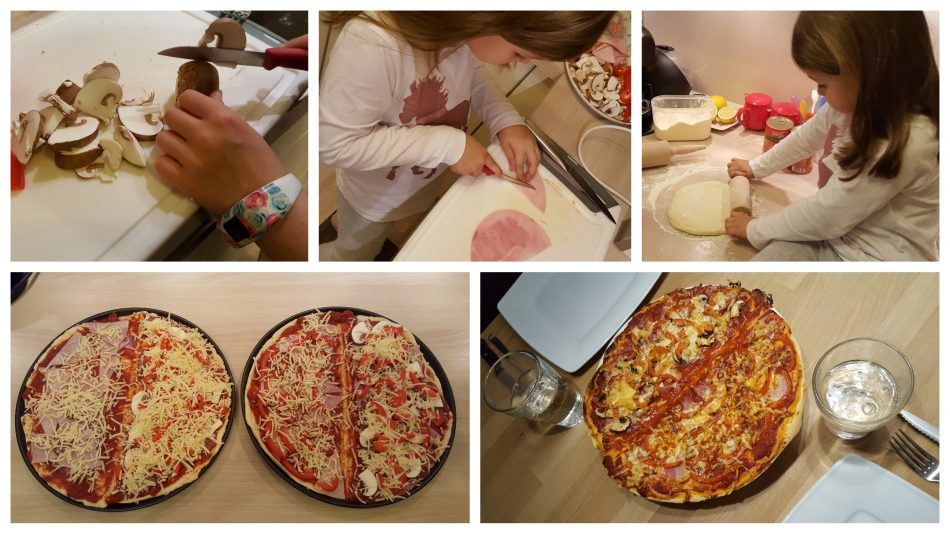 Wir backen Pizza